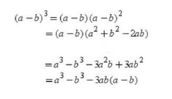 what is the formula a b 3 quora