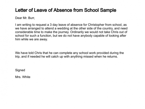 letter asking for permission to be absent from school what is a sample letter to write an absence from 19998