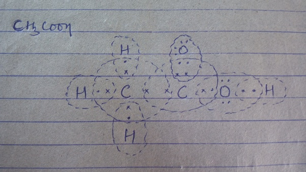 What Is The Lewis Dot Structure Of Ch3cooh Acetic Acid Quora