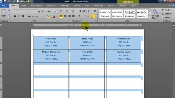 How To Create Name Tags From Excel Quora