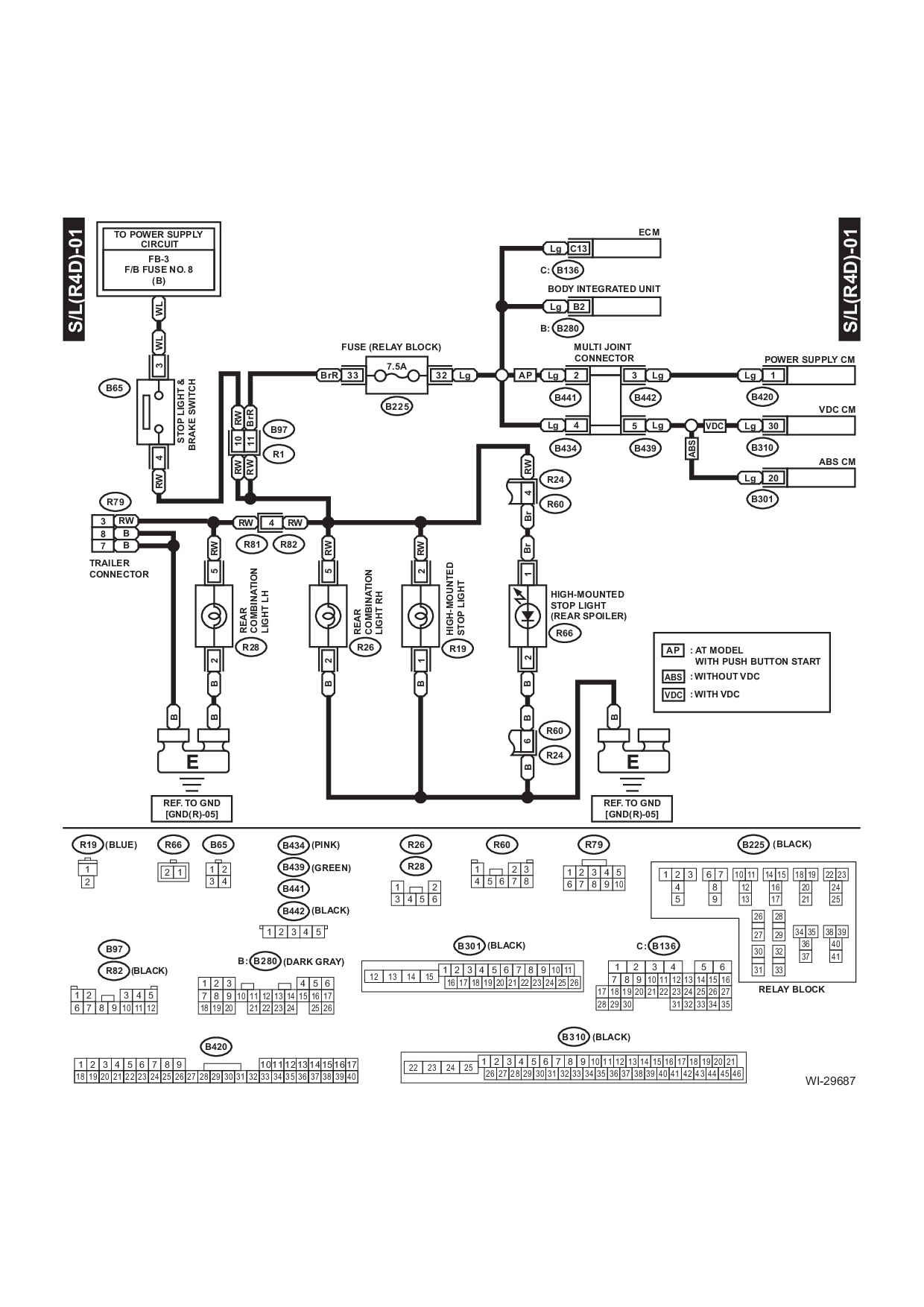 Wiring Diagram Further 2004 Subaru Outback Tail Light Wiring ... on