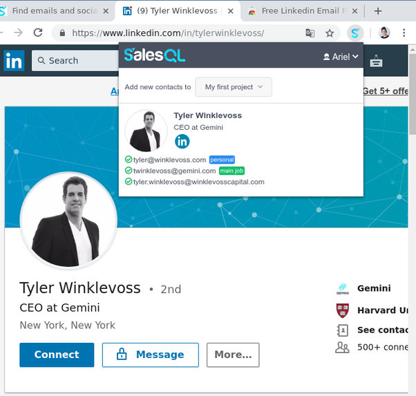 How to extract emails from LinkedIn for free - Quora