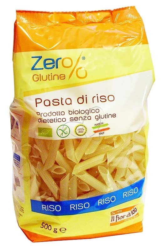 What is rice pasta made of
