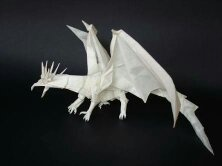 How to Fold a very advanced origami fiery dragon « Origami ... | 166x222