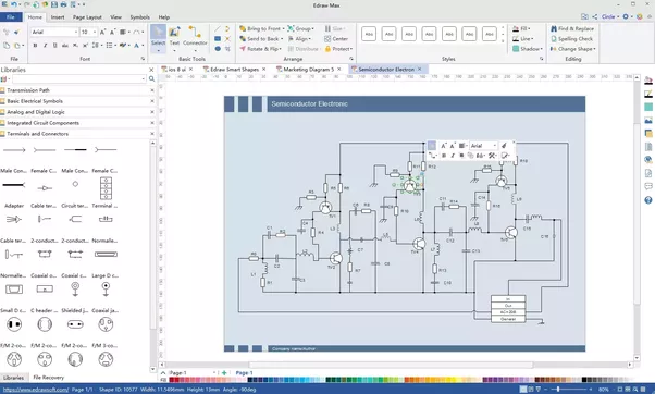 how to draw circuit diagrams in microsoft visio what stencil do you rh quora com visio electrical schematic shapes wiring schematic visio