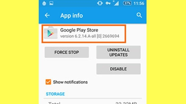 google play store shows download pending