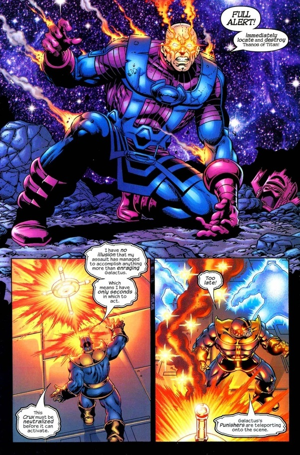 Who Is More Powerful Thanos Or Galactus Quora