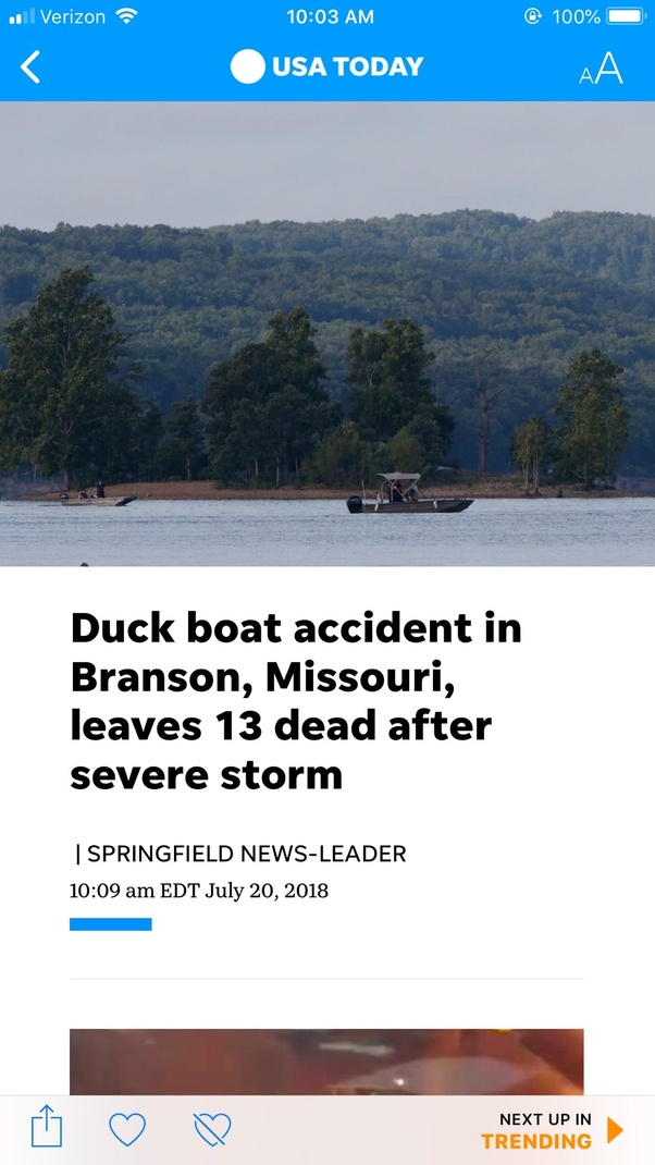 Could the duck boat accident in Branson, MO have been
