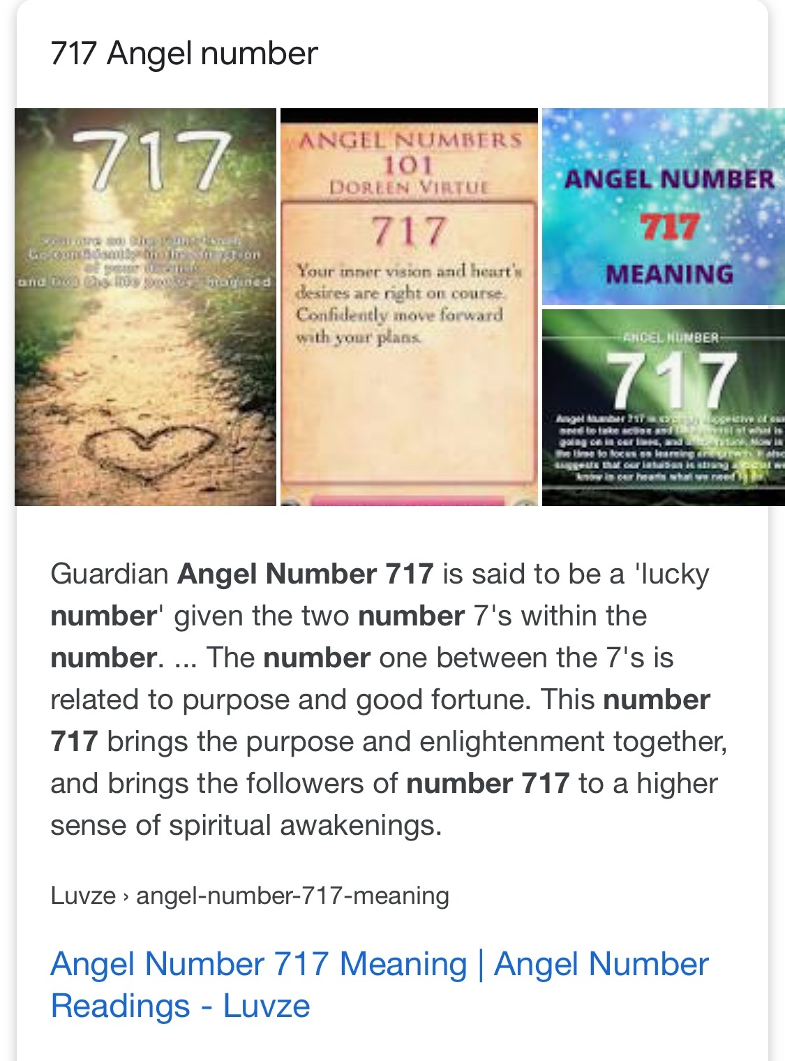 What does it signify to see an angel number 717 for twin