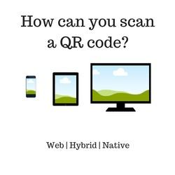 How to scan a QR code through a web interface (not an app) on a