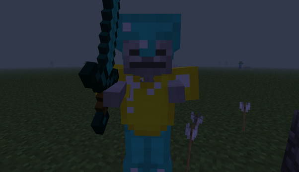How to give swords, armour, and items to zombies and