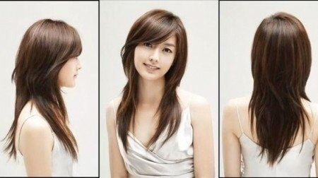 Layered Hairstyles With Side Swept Bangs For Round Faces Hairstyles