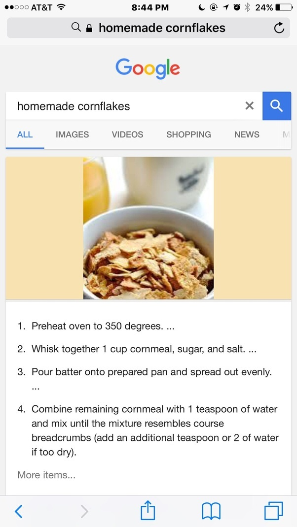 Can i create homemade cornflakes quora homemade corn flakes cereal ccuart Gallery