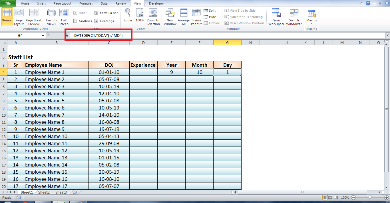 How to use DATEDIF function in Excel   Quora