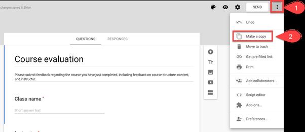 How To Duplicate A Google Form Quora