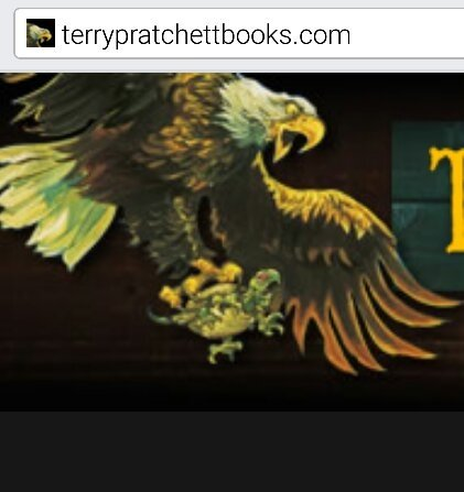 Why is the icon for the Terry Pratchett website an eagle? Is this a ...