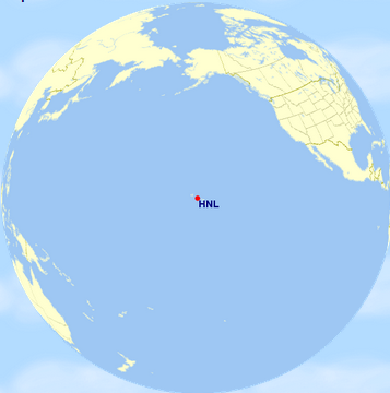 hawaii on the map for just a moment the most isolated substantially populated land mass on earth it is literally in the middle of nowhere