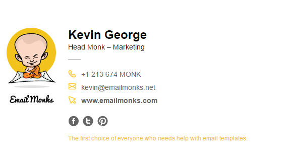 to know more on email signatures check out the blog on best practices of email signature marketing by emailmonks