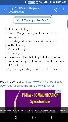 Which college should I prefer in Mumbai for BMS? - Quora