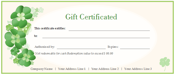 What is the best gift certificate template in Word 2007? - Quora