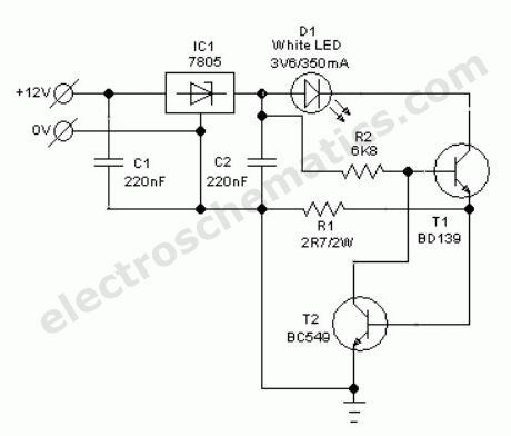 What is the circuit diagram of LED driver circuits and the working ...