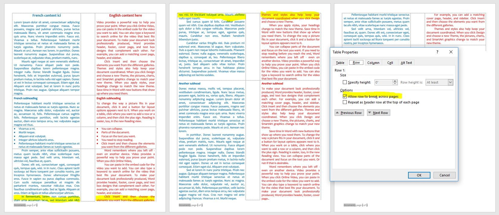 How to create a bilingual dual column document in Word - Quora With 3 Column Word Template