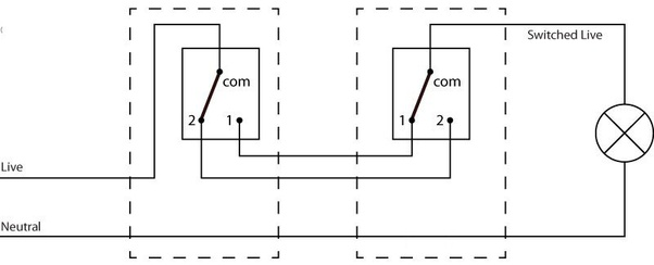 Can I Use A 2 Way Light Switch As 1, 2 Way Switch Wiring Diagram Uk