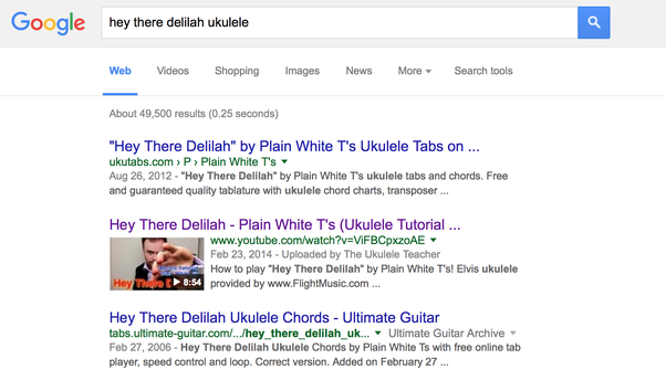 How To Play Hey There Delilah On The Ukulele Quora