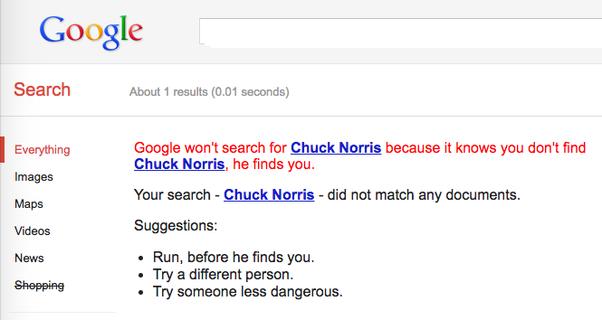 How To Do The Chuck Norris Google Trick Quora