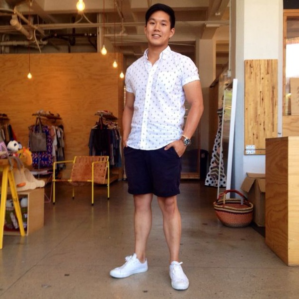 What Goes With Men S Navy Blue Shorts Quora,White Bathroom With Subway Tile