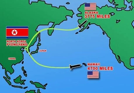 Whats the distance between north korea and usa quora according to kim jong missiles from north korea can reach alaska and hawaii gumiabroncs Image collections