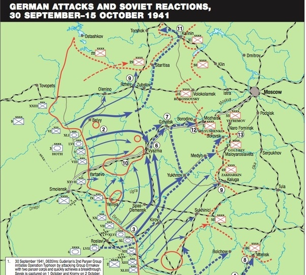 Are there any maps showing the activity of Wehrmacht troops ...