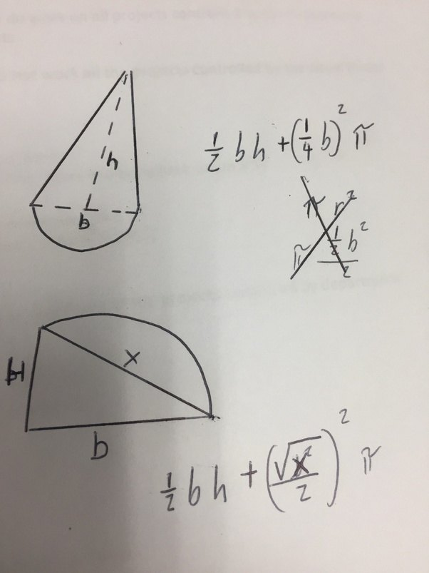how to find the area of a curved in triangle