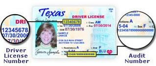 Where is the audit number on a Texas driver's license? - Quora
