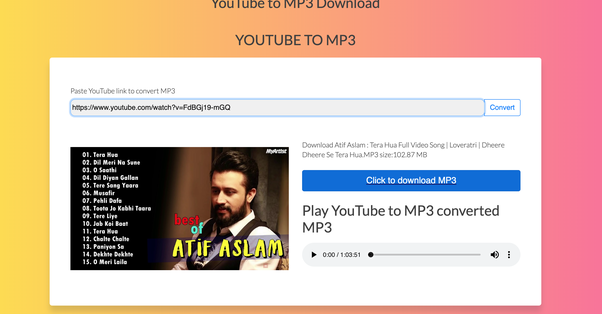 website to download mp3 songs from youtube