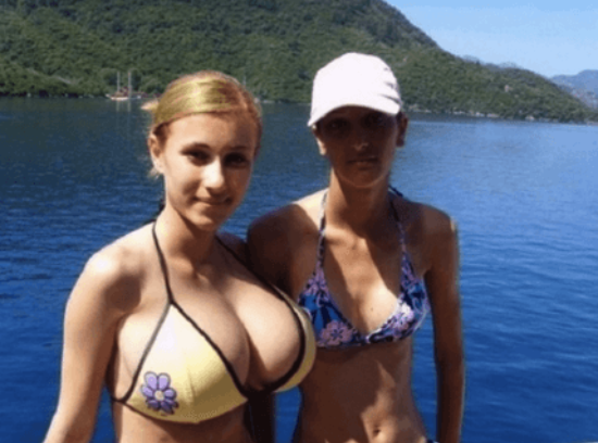Make boobs look bigger in bikini