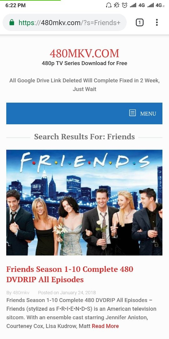 Where can I watch full episodes of the Friends series with