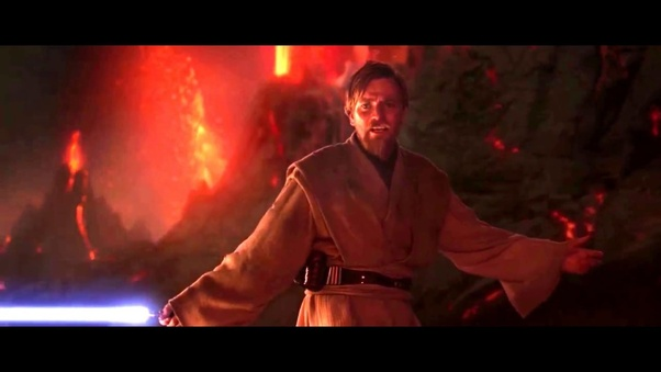 Why Did Obi Wan Tell Anakin It S Over Anakin I Have The Higher Ground Was It For A Specific Fight Technique Quora