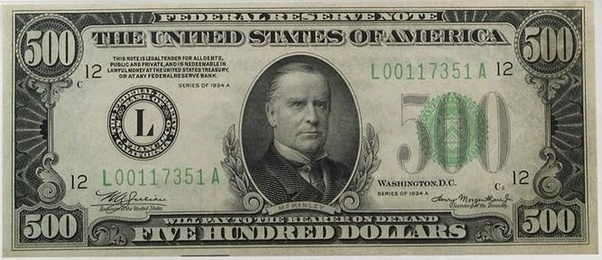 Are there 500 dollar bills? - Quora