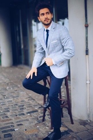 9164926e1 Which formal combination suits a light blue blazer? - Quora