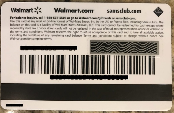 Were is the pin number located on your Walmart giftcard? - Quora