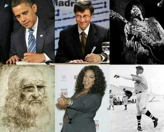 4 famous left handed folks