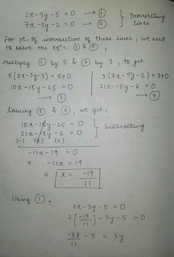 What Is The Solution For An Equation Of A Line Passing Through The