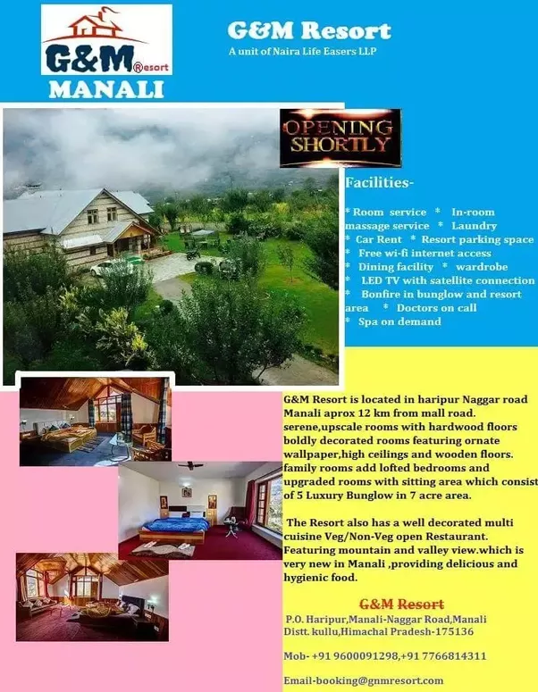 Manali Will Be Best In Month Of February