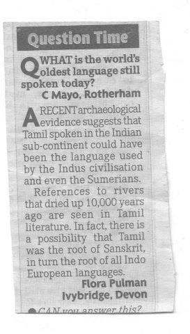 What Is The Credibility Of This Article Below Stating That Kannada - Root languages of the world