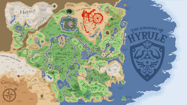 If The Fictional Kingdom Of Hyrule From The Legend Of Zelda Was A Real Country Where Would It Be Located In Your Opinion Quora