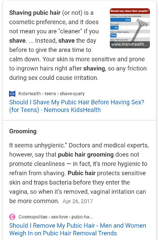 Pubic their area should shave girls Out of