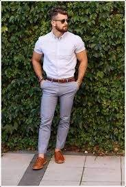What color dress shirt with brown shoes