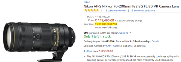 I want to buy a Nikon product from an ecommerce website, but when I