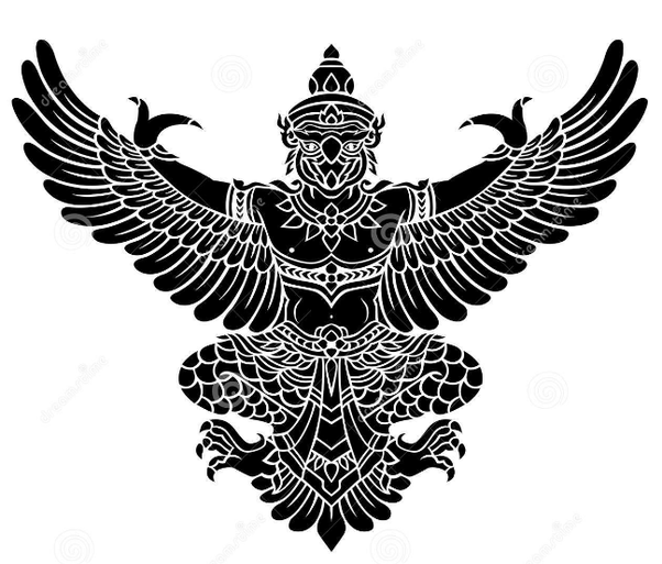 In Hindu Philosophy Mythology A Gigantic Half Man And Bird Born From An Egg Brought Forth By Vinata Wife Of Kasyapa The Self Sprung Time